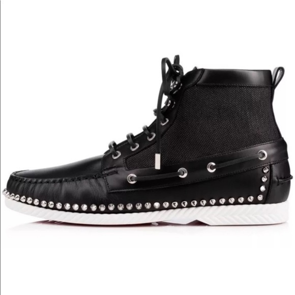 detailed look 5574f 64ef9 Christian Louboutin Red Bottoms Studded Sneakers